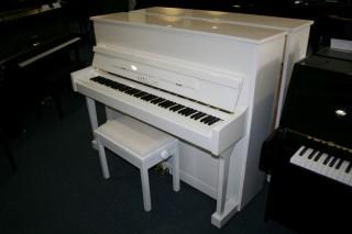 Karl Lang Klavier Modell F-120 weiß poliert