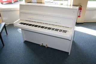 Steinway & Sons Klavier Modell Z-114 weiß poliert
